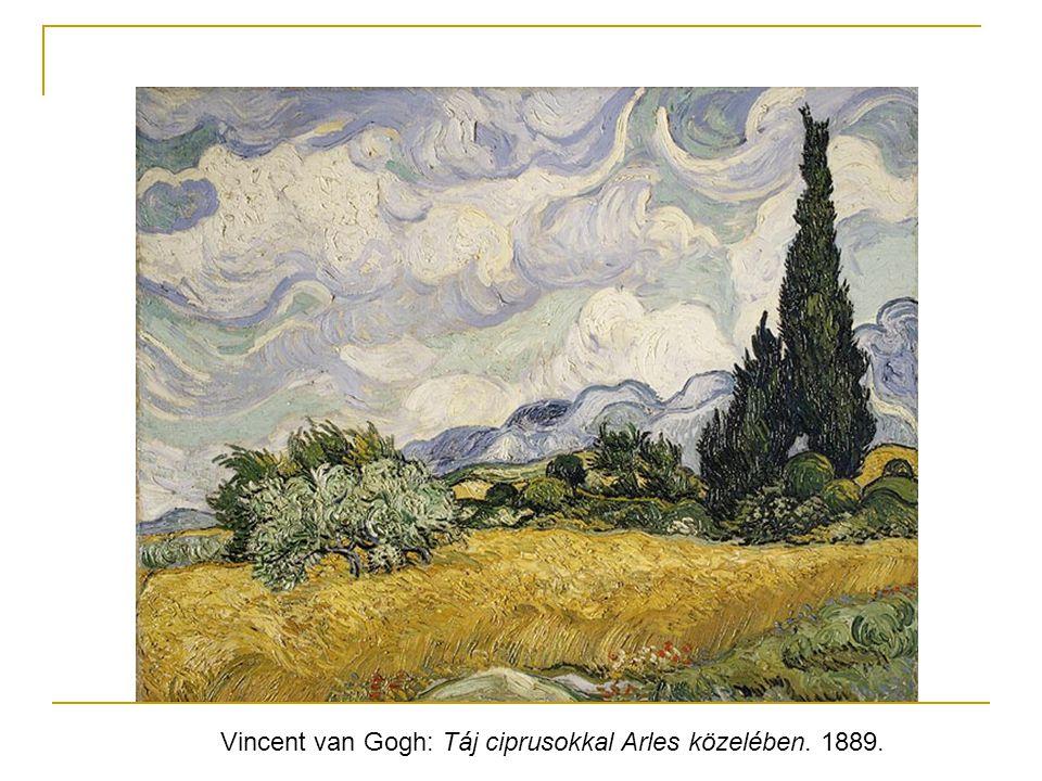 Vincent van Gogh: Táj ciprusokkal Arles közelében. 1889.