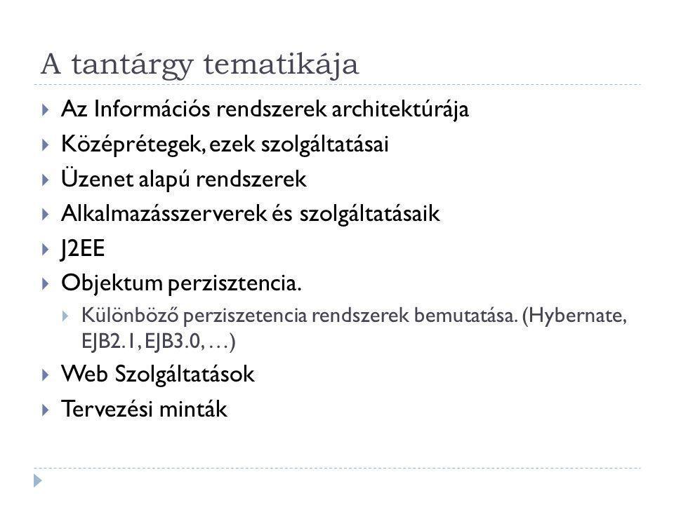 1. Elosztott rendszerek  Mai trendek SOA  Jellemzői  Átteszőségek  Architektúrák
