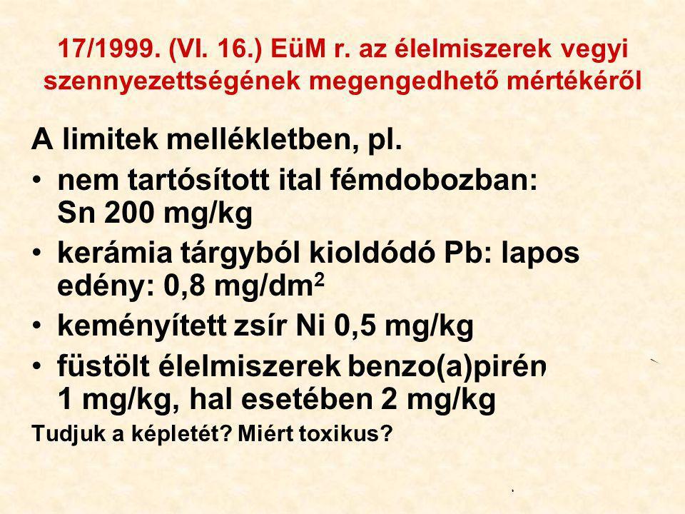 34 17/1999.(VI. 16.) EüM r.