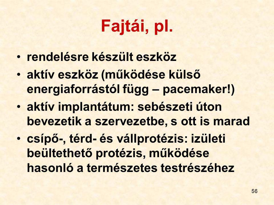 56 Fajtái, pl.