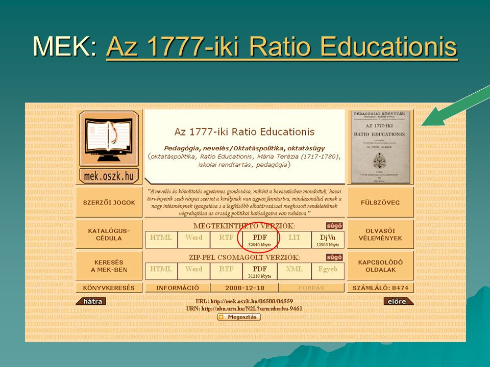 MEK: Az 1777-iki Ratio Educationis Az 1777-iki Ratio EducationisAz 1777-iki Ratio Educationis