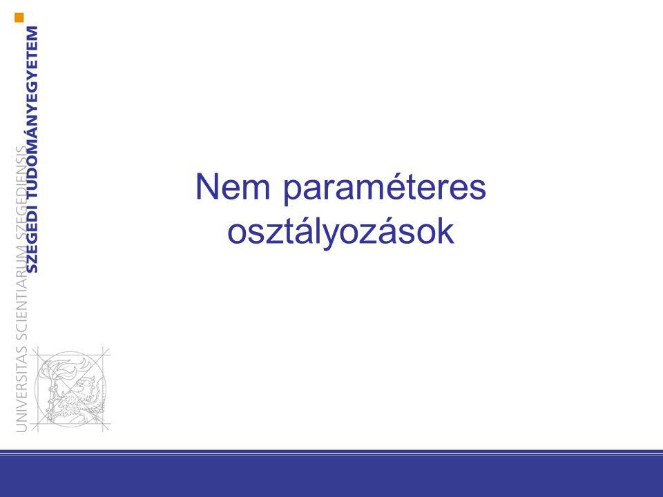 Nem paraméteres osztályozások