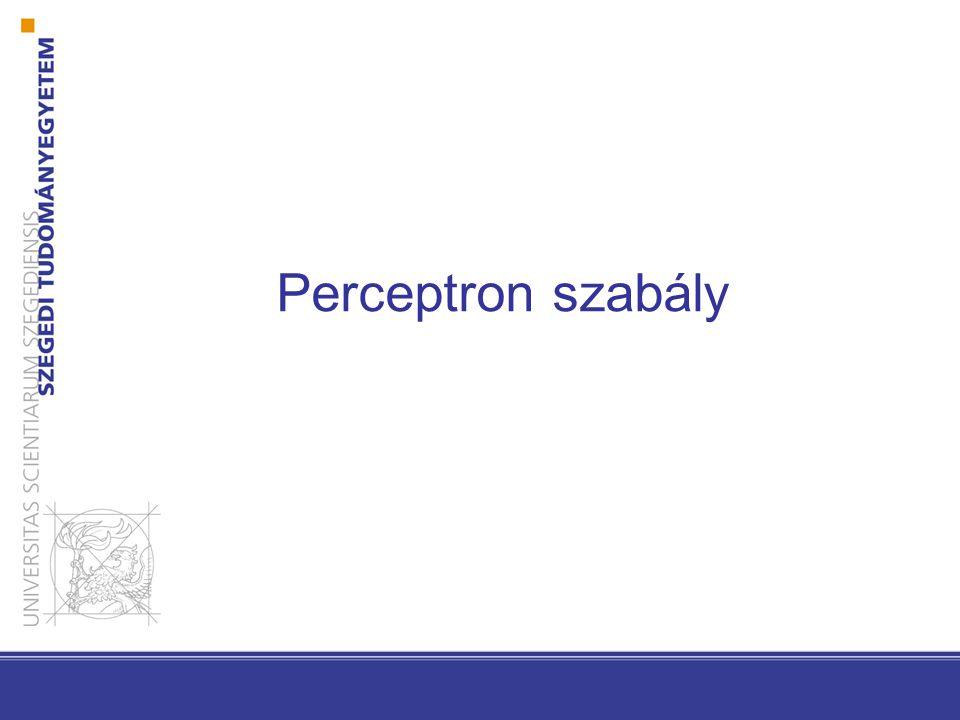 25 Perceptron szabály Y(a): a által rosszul osztályzott minták halmaza.