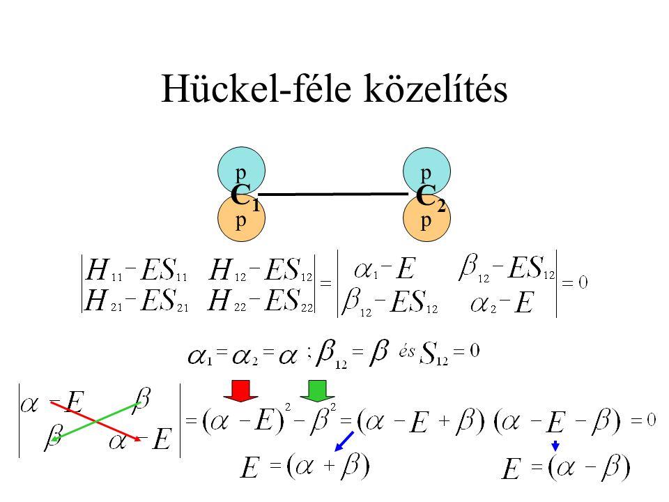 Hückel-féle közelítés p p p p C1C1 C2C2