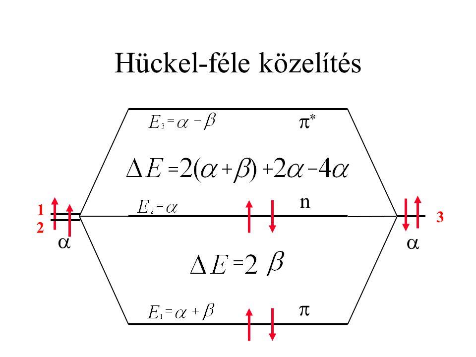 Hückel-féle közelítés     n 1 2 3