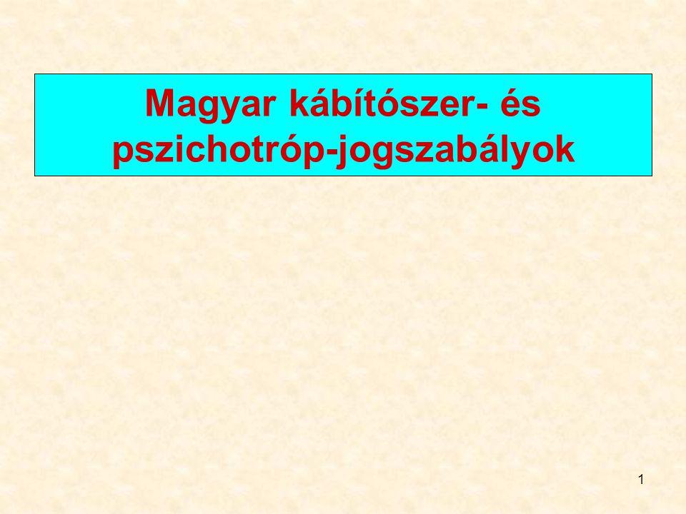 1 Magyar kábítószer- és pszichotróp-jogszabályok