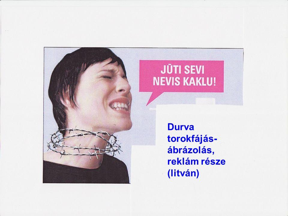69 Durva torokfájás- ábrázolás, reklám része (litván)