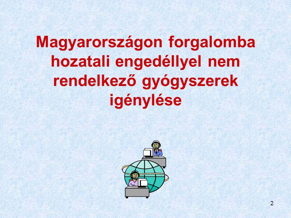 13 Mit jelent mindez: Indokolt esetben (!) a magyar beteg a világ minden gyógyszeréhez hozzájuthat Elvben még társadalombiztosítási támogatást is kaphat rá Persze bonyolultabb a folyamat, mint lemenni a sarki patikába, alaposan, előre meg kell gondolni!