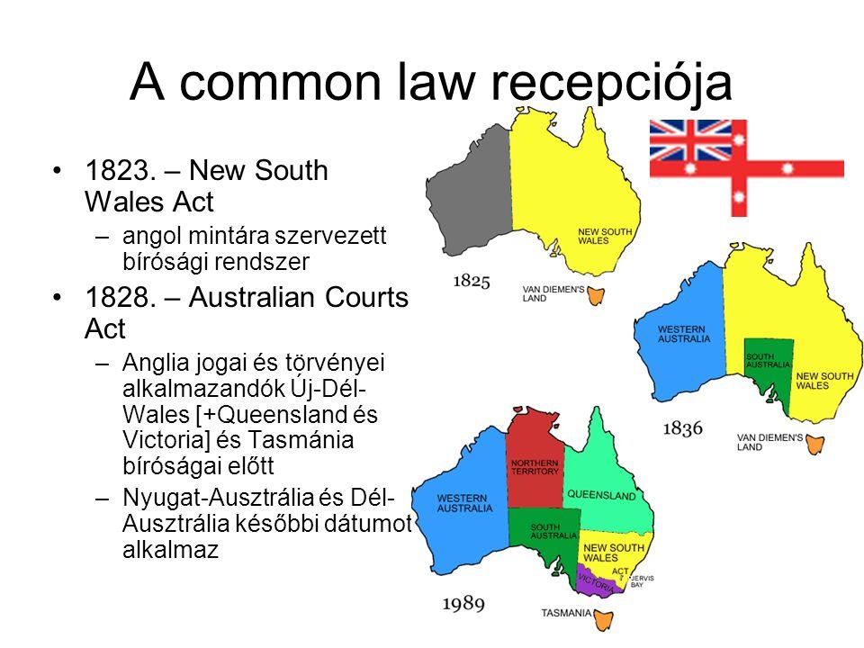 A common law recepciója 1823.