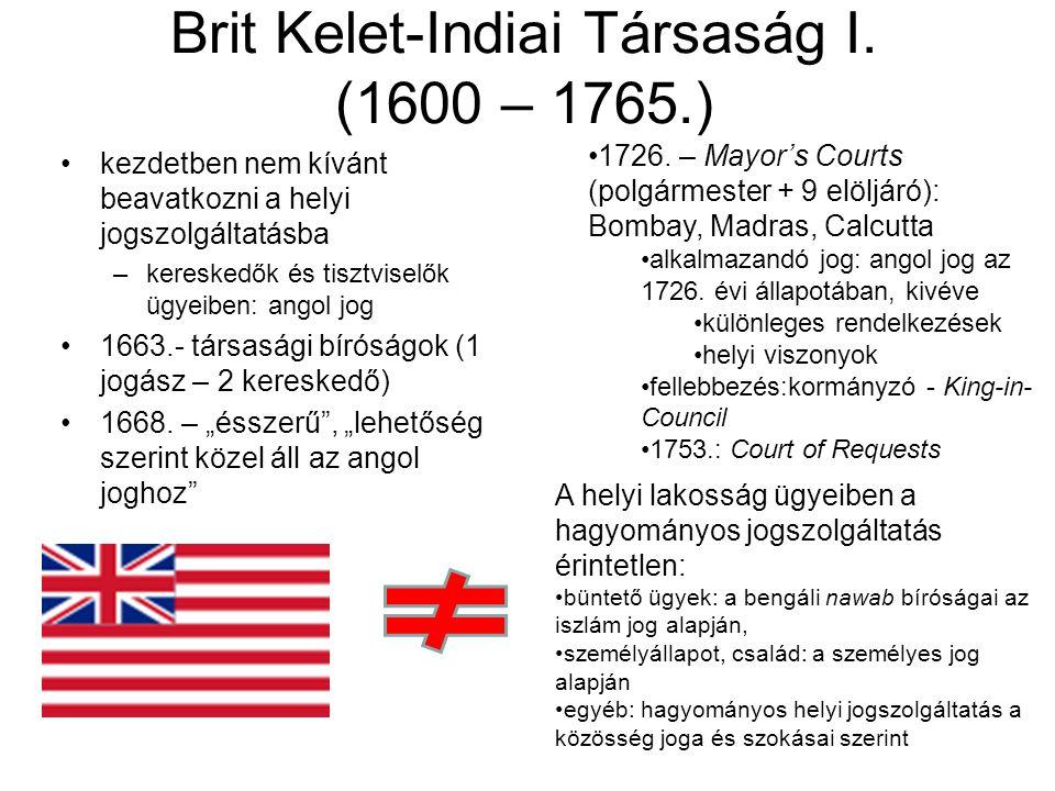 Brit Kelet-Indiai Társaság I.