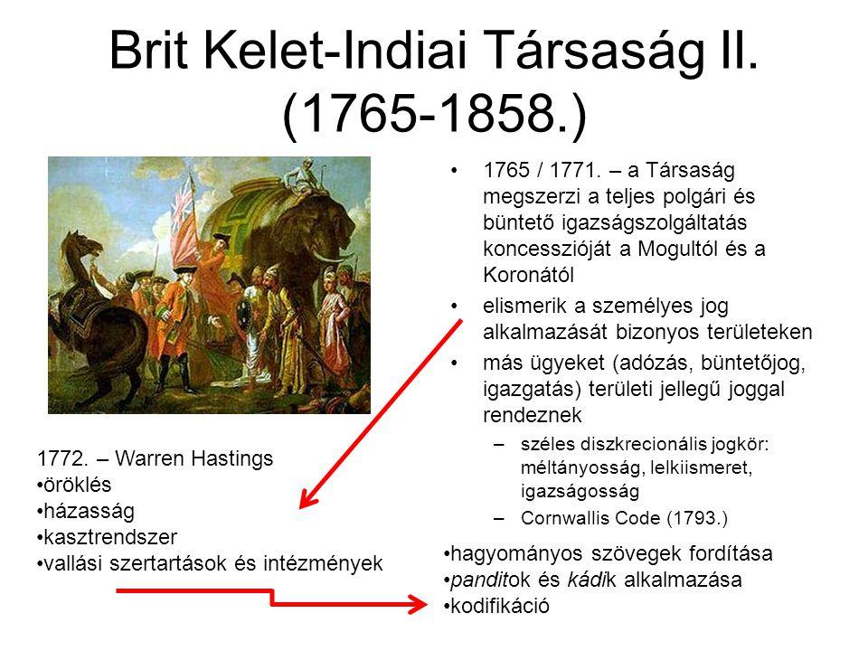 Brit Kelet-Indiai Társaság II.(1765-1858.) 1765 / 1771.