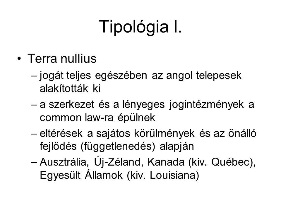 Tipológia I.