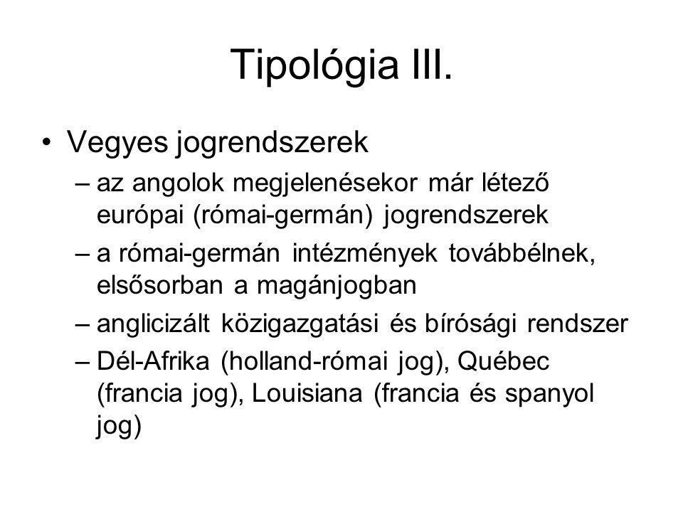Tipológia III.