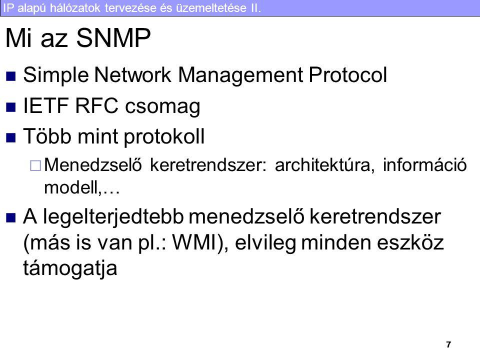 IP alapú hálózatok tervezése és üzemeltetése II.28 Köszönöm a két féléves kitartó figyelmet.