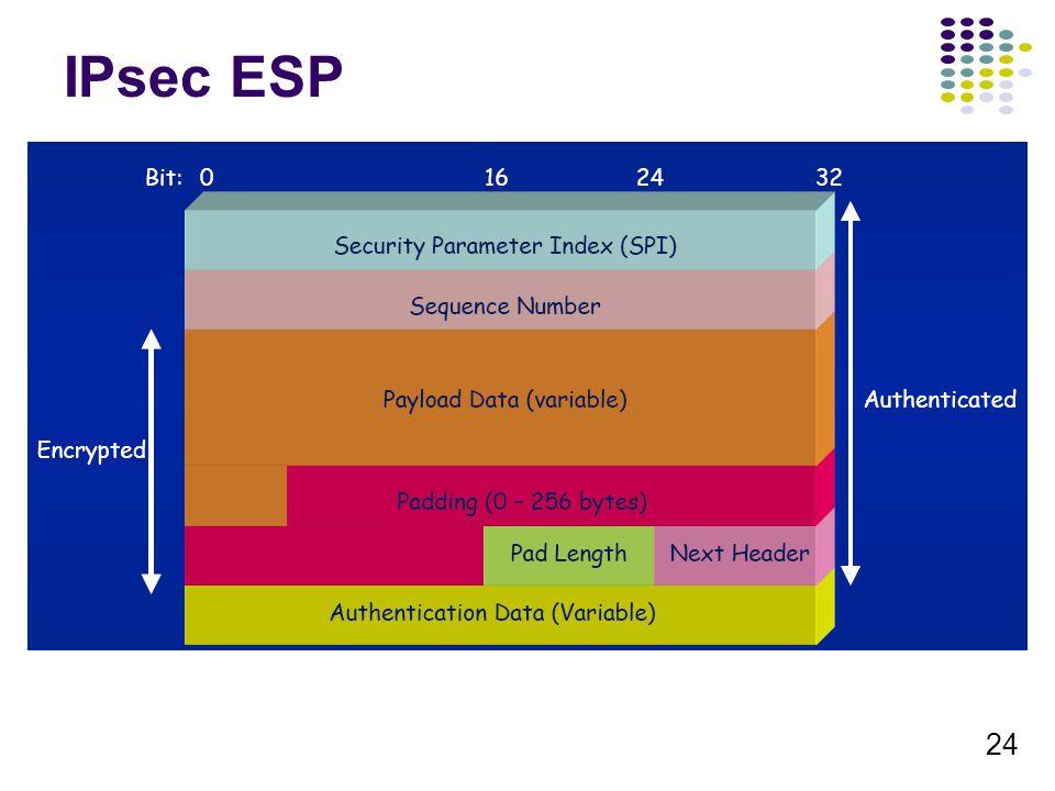 24 IPsec ESP