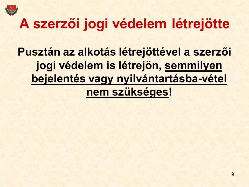 20 Pl.előadóművészek szomszédos joga Az előadóművész engedélye kell pl.