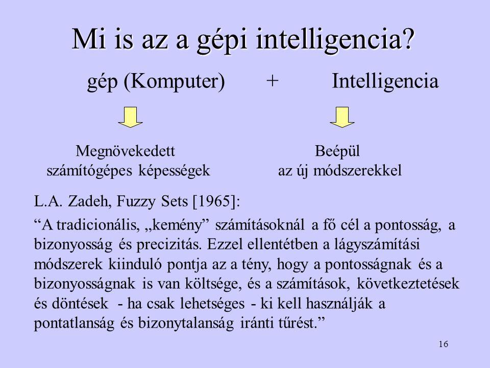 16 Mi is az a gépi intelligencia.