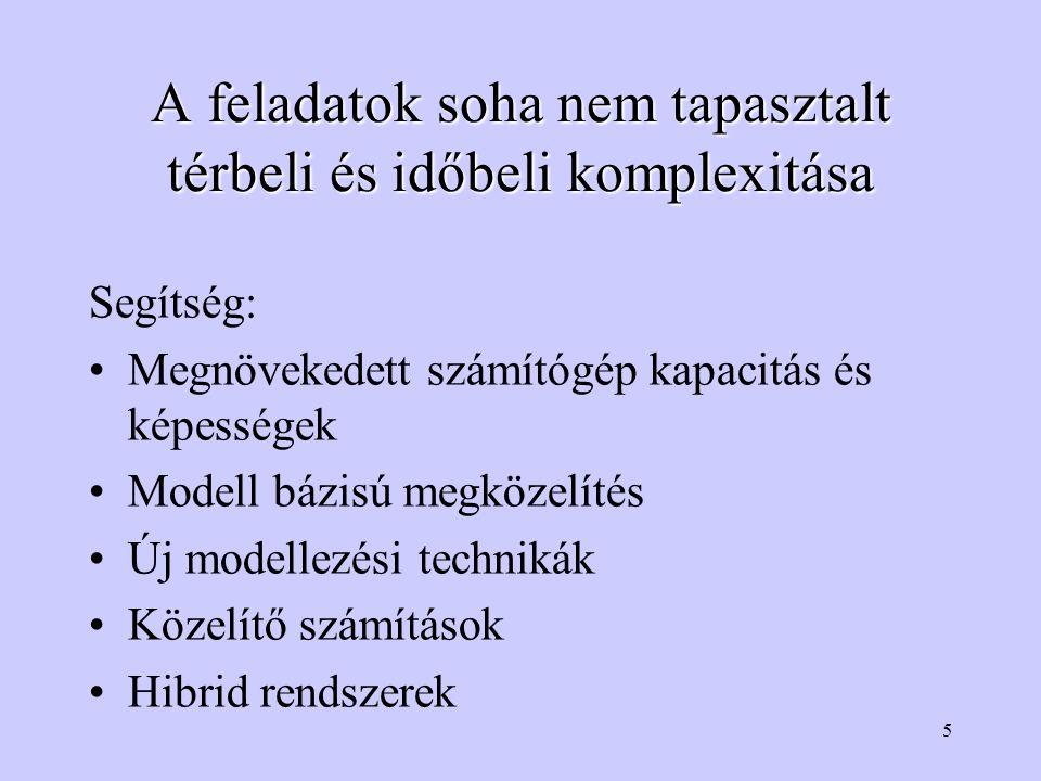 26 Probléma Tudás ábrázolás, Modell A probléma nem ábrázolt része Ábrázolt tudás Probléma független tér, csak a modell formalizmusa köti a problémához