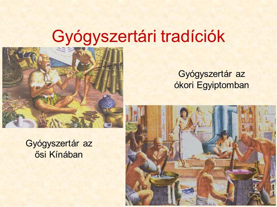4 Gyógyszertári tradíciók Gyógyszertár az ősi Kínában Gyógyszertár az ókori Egyiptomban