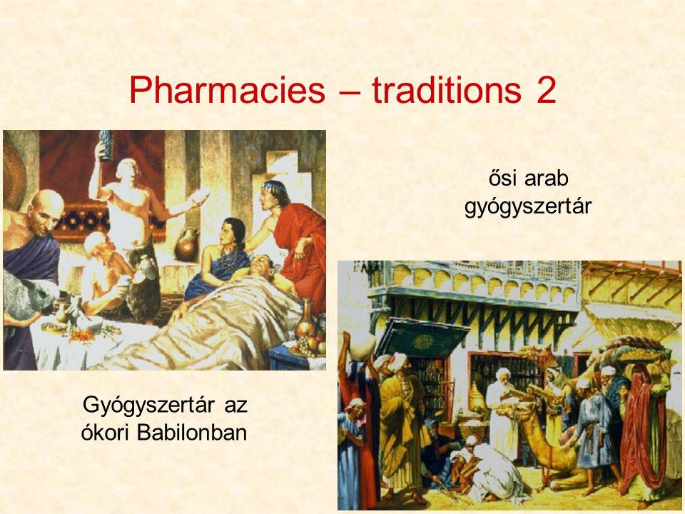 5 Pharmacies – traditions 2 Gyógyszertár az ókori Babilonban ősi arab gyógyszertár