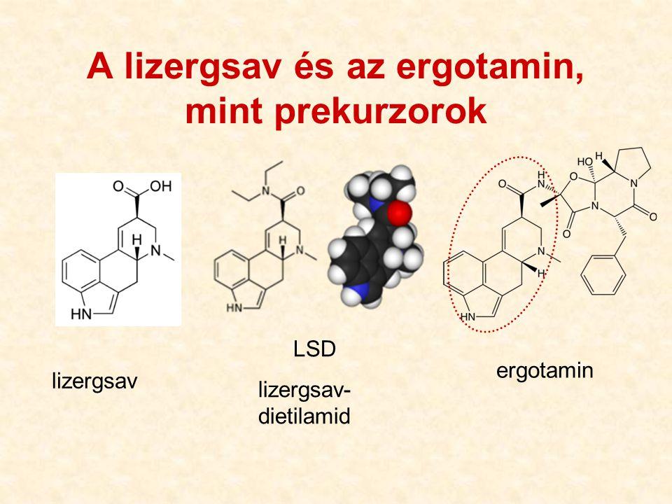 A lizergsav és az ergotamin, mint prekurzorok lizergsav LSD lizergsav- dietilamid ergotamin