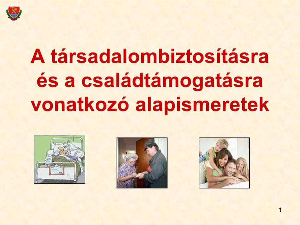 11 A társadalombiztosításra és a családtámogatásra vonatkozó alapismeretek