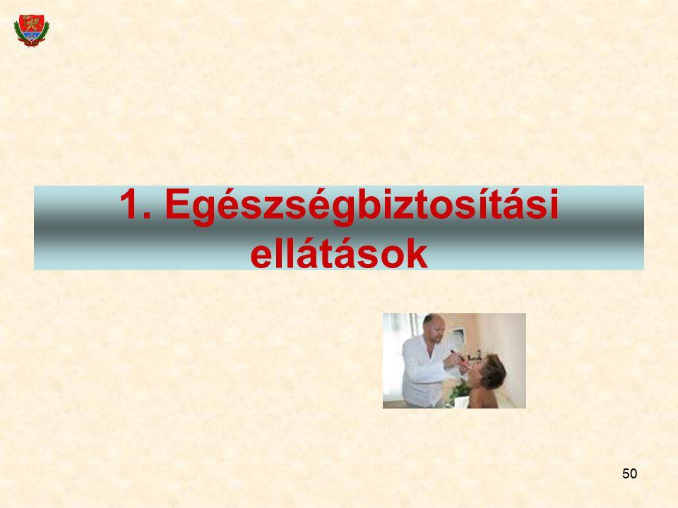 50 1. Egészségbiztosítási ellátások