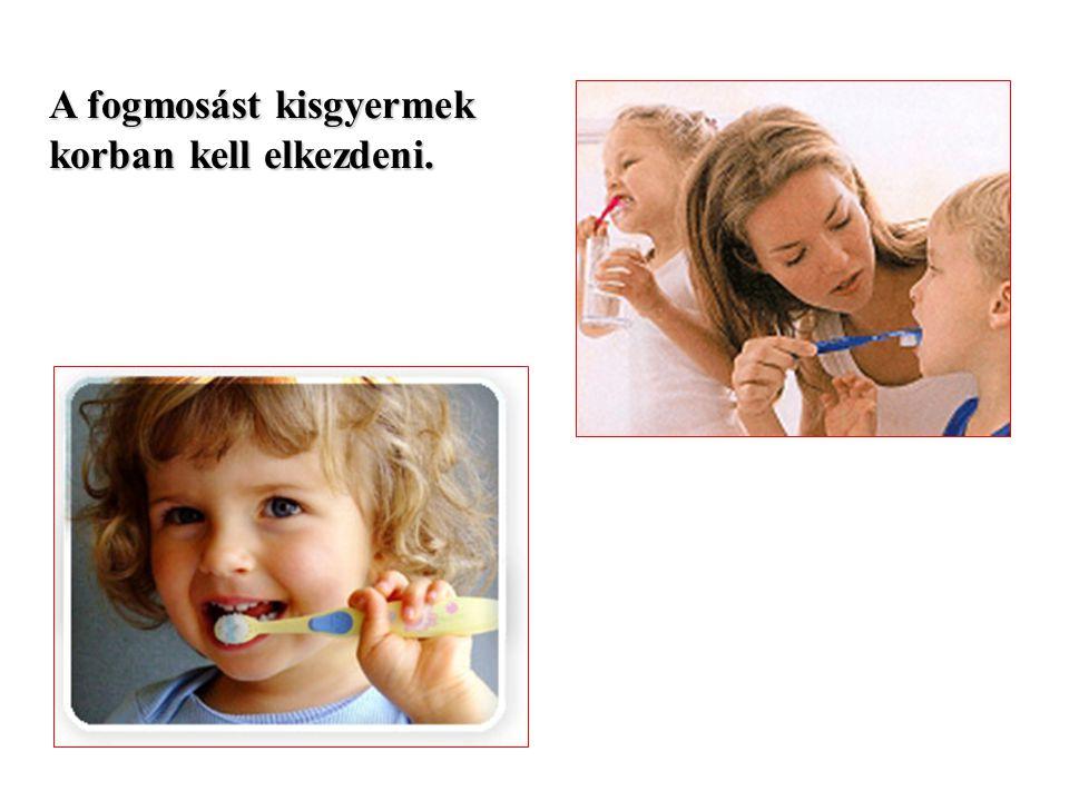 A fogmosást kisgyermek korban kell elkezdeni.
