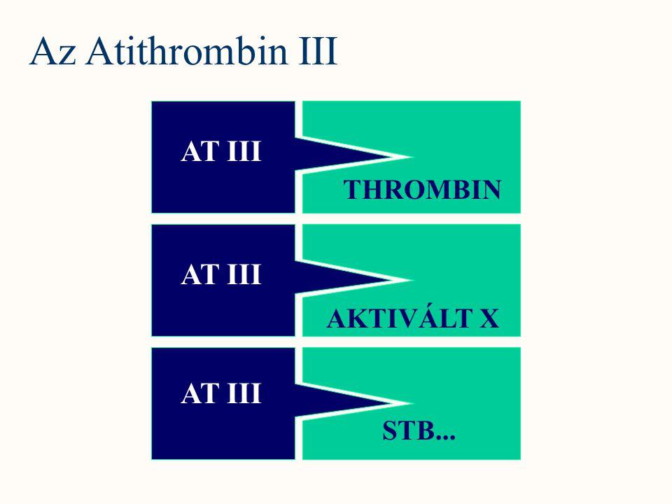 AT III THROMBIN AKTIVÁLT X STB... Az Atithrombin III