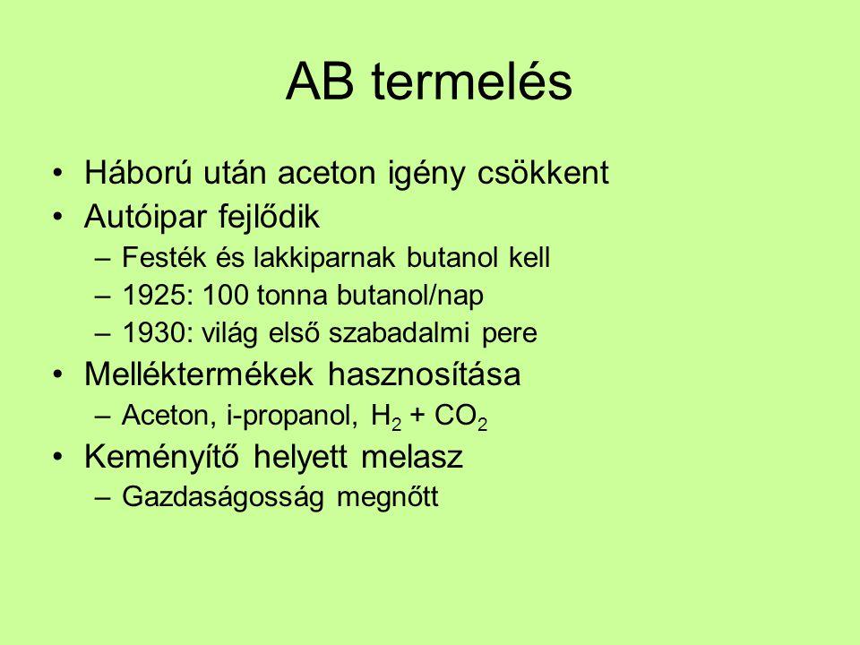 AB termelés II.