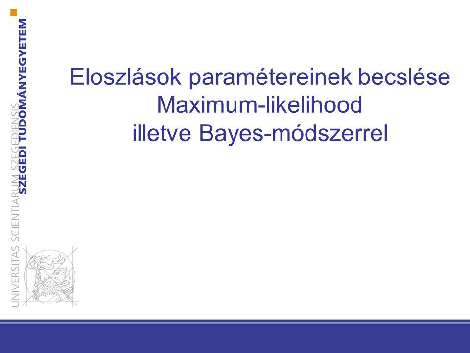 Eloszlások paramétereinek becslése Maximum-likelihood illetve Bayes-módszerrel