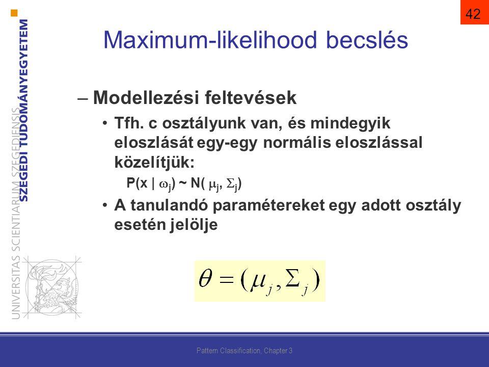–Modellezési feltevések Tfh.