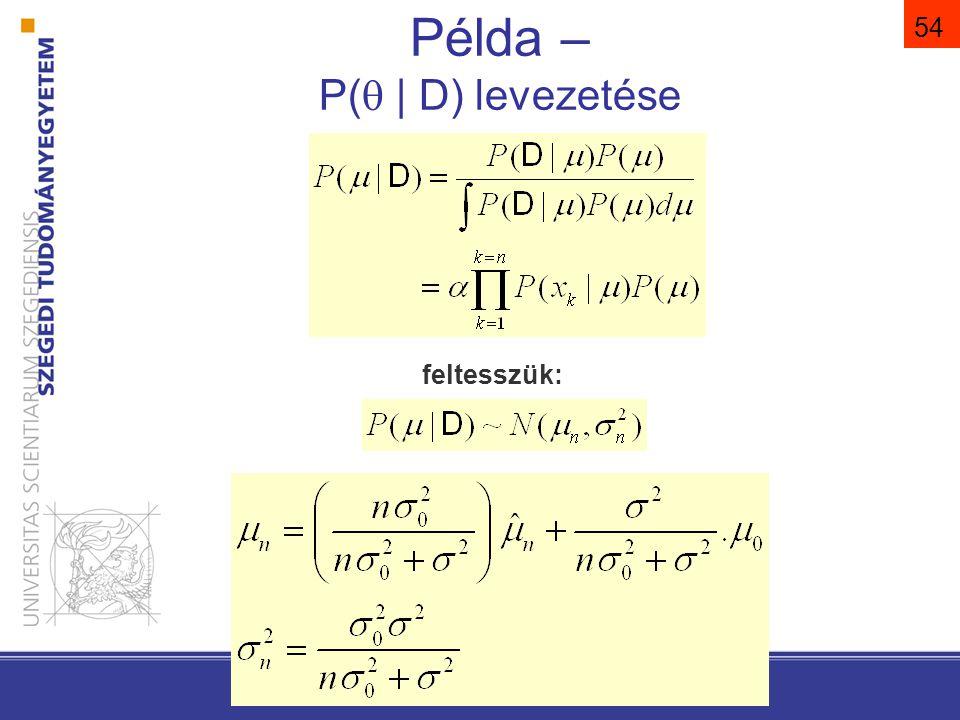 feltesszük: … Pattern Classification, Chapter 3 54 Példa – P(  | D) levezetése
