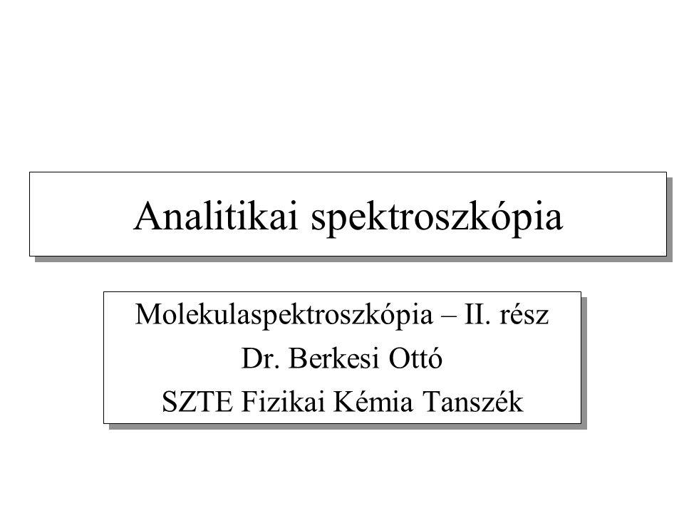 Analitikai spektroszkópia Molekulaspektroszkópia – II.
