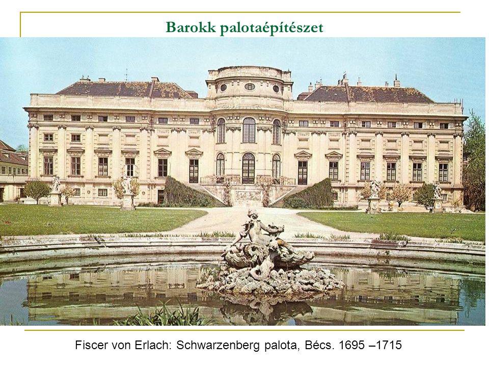 Barokk palotaépítészet Fiscer von Erlach: Schwarzenberg palota, Bécs. 1695 –1715