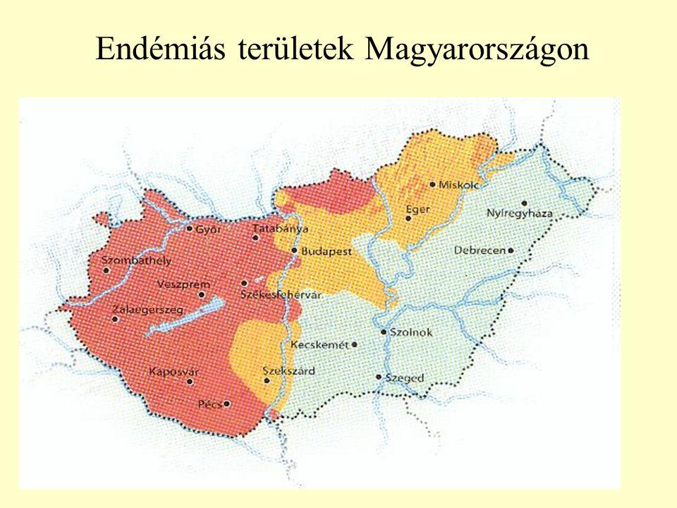 Endémiás területek Magyarországon