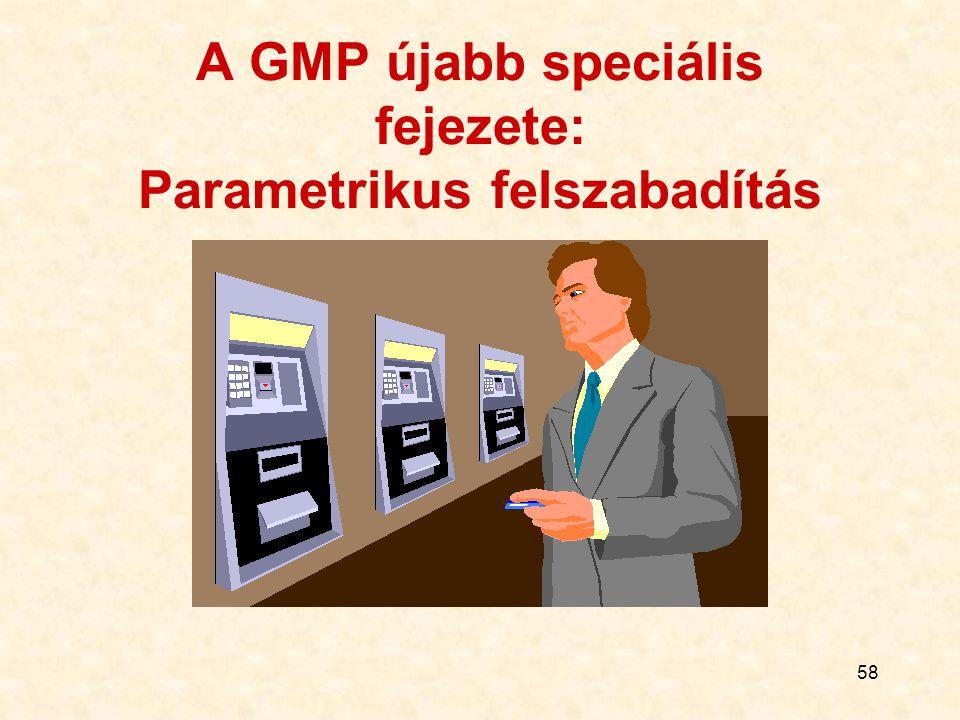 58 A GMP újabb speciális fejezete: Parametrikus felszabadítás