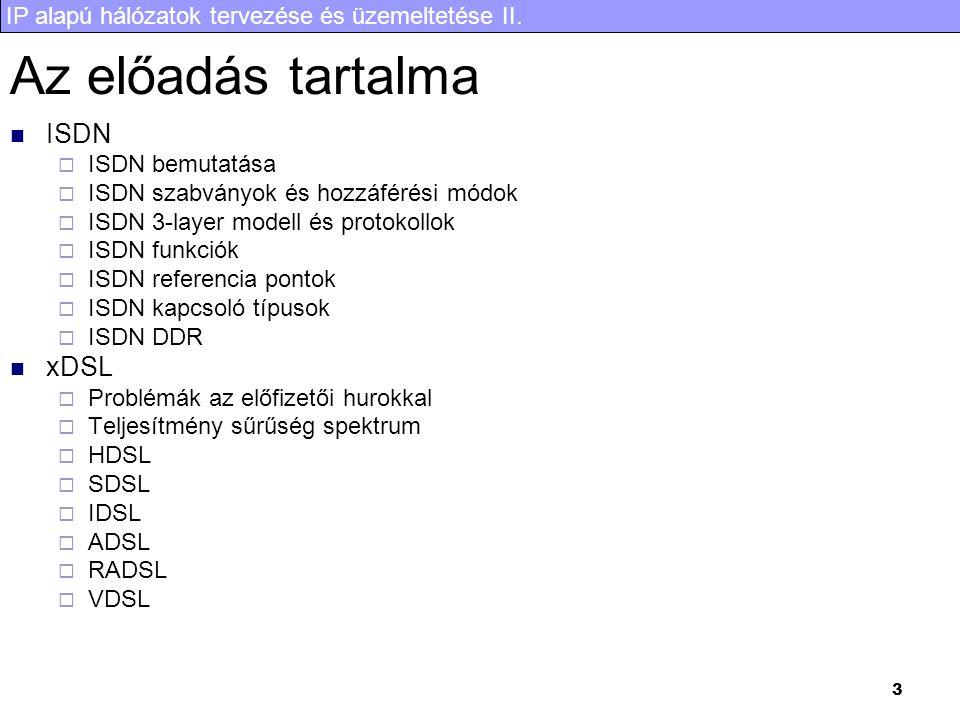 IP alapú hálózatok tervezése és üzemeltetése II. 24 DDR konfigurálás