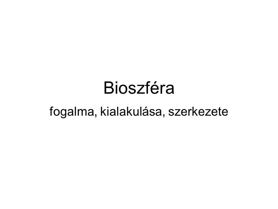 Bioszféra fogalma, kialakulása, szerkezete