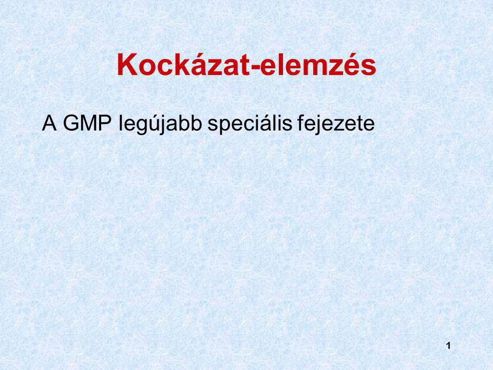 1 1 Kockázat-elemzés A GMP legújabb speciális fejezete