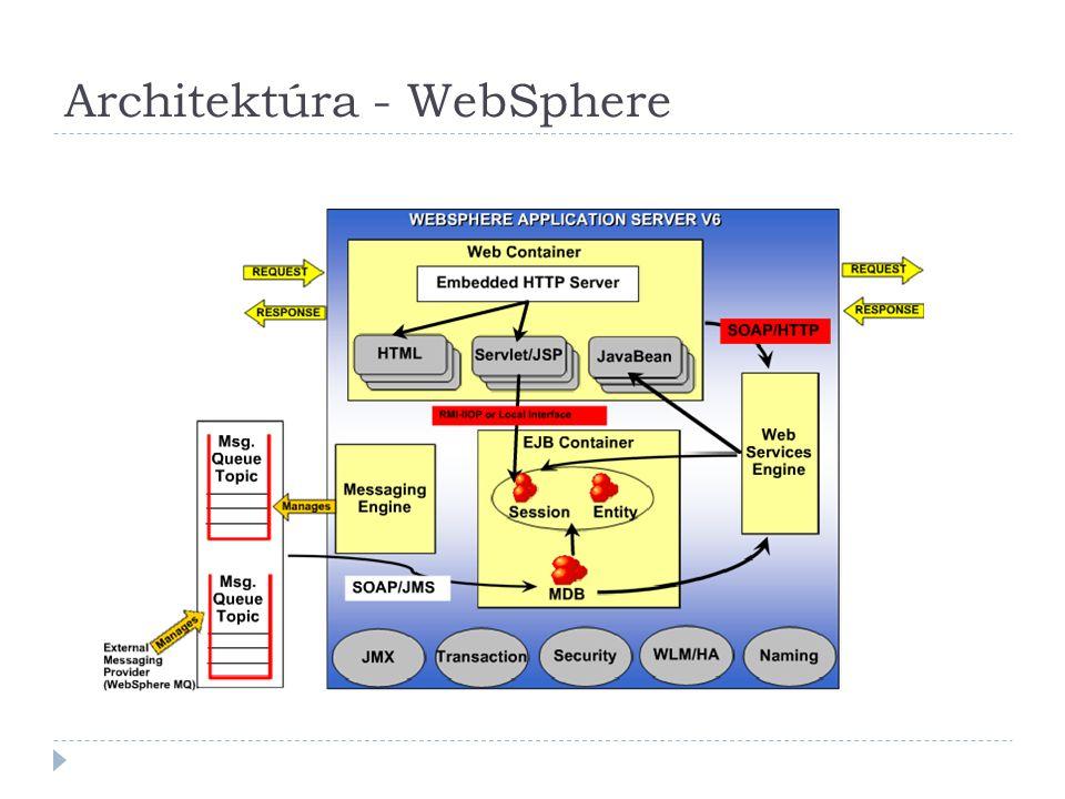 J2EE alkalmazások és modulok  Moduláris felépítésű üzleti alkalmazások, amelyek alkalmazásszerver-környezetben képesek üzemelni  J2EE modulok típusai:  Web modul (WAR): web-alapú felhasználói felületek számára (egyszerű háttérlogikával)  EJB modul (JAR): bonyolultabb üzleti logika számára  Alkalmazáskliens modul (JAR): nem web-alapú kliens alkalmazások számára  Erőforrás-adapter modul (RAR): nem J2EE-kompatibilis rendszerekkel való integráció számára  Enterprise alkalmazás (EAR): előző négy modultípus egységbe csomagolására