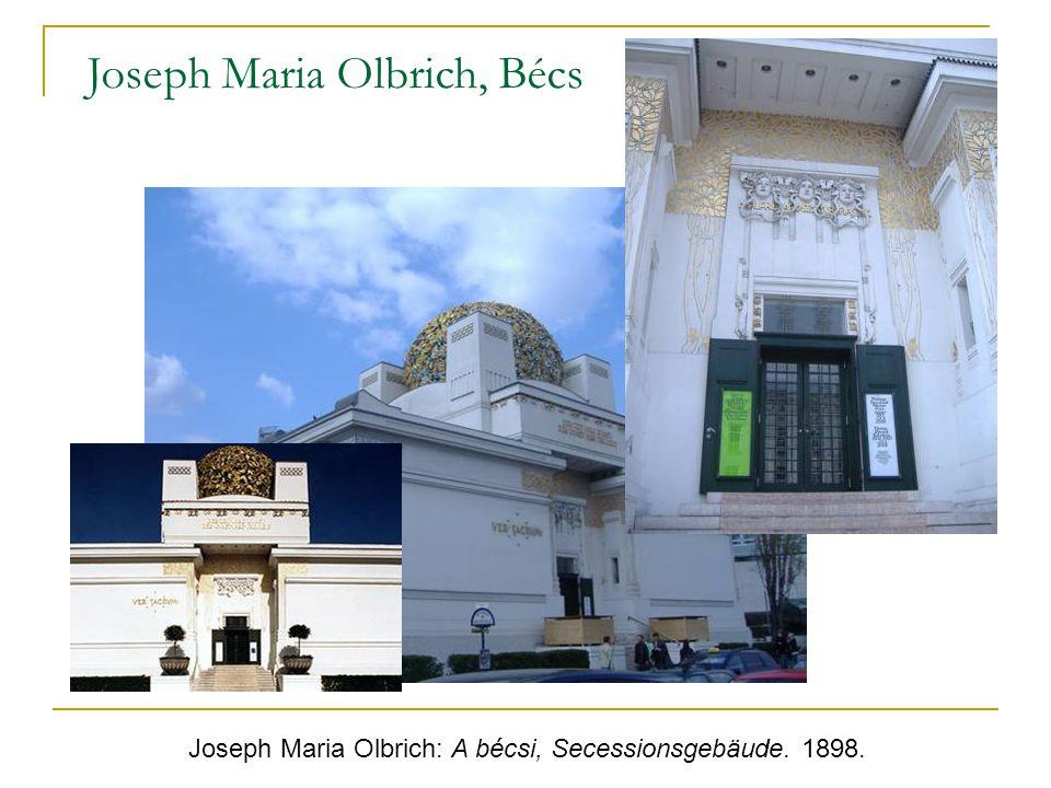 Joseph Maria Olbrich: A bécsi, Secessionsgebäude. 1898. Joseph Maria Olbrich, Bécs