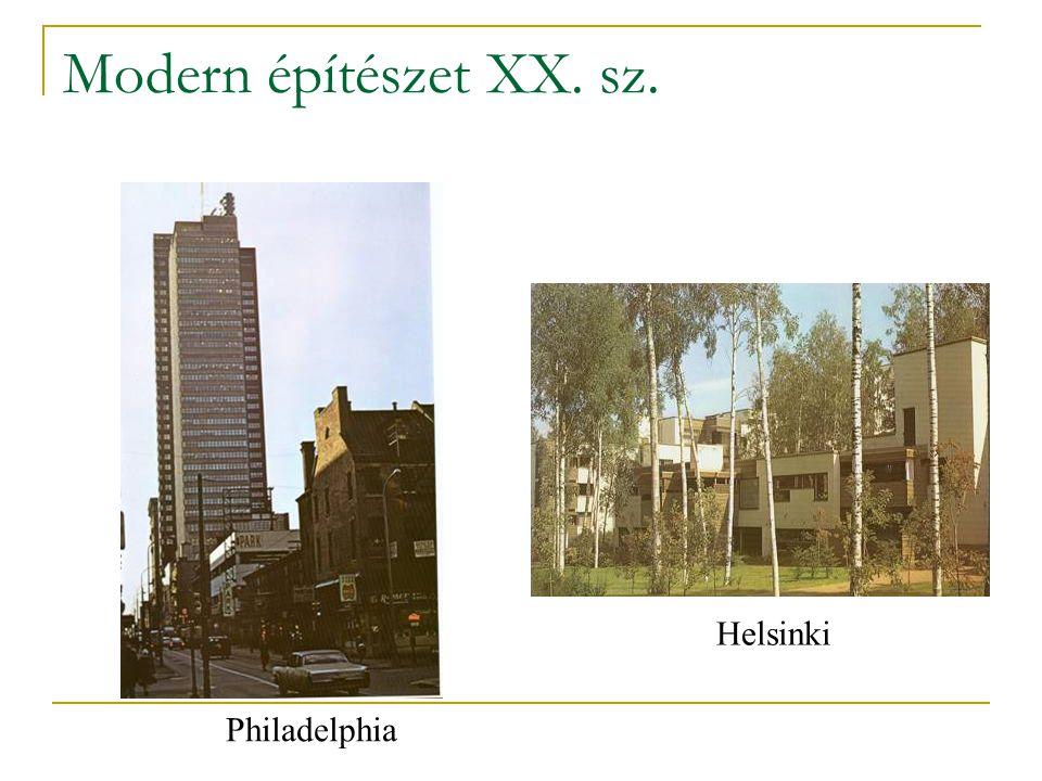 Modern építészet XX. sz. Philadelphia Helsinki