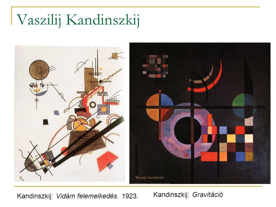 Vaszilij Kandinszkij Kandinszkij: Vidám felemelkedés. 1923. Kandinszkij: Gravitáció