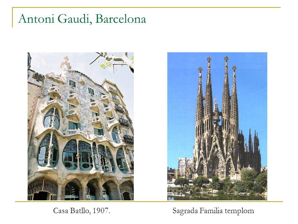 Antoni Gaudi, Barcelona Casa Batllo, 1907. Sagrada Familia templom