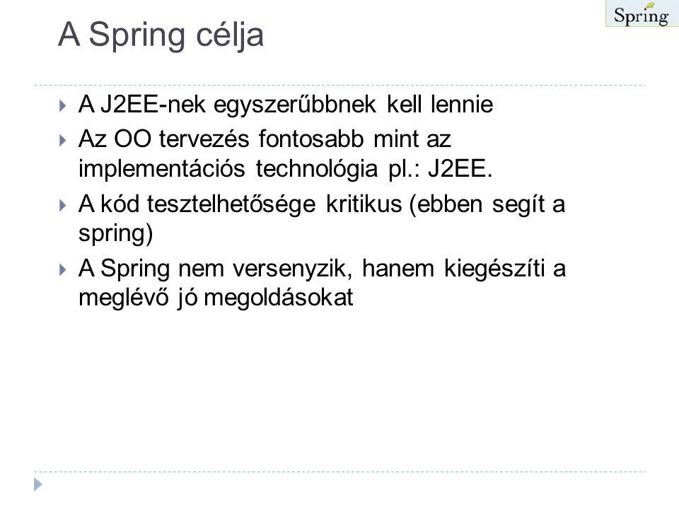 """Spring  Rétegelt Java/J2EE alkalmazás keretrendszer Rod Johnoson kódja alapján (""""Expert One-one-One J2EE Design and Development"""" Wrox, 2002)  Nyílt"""