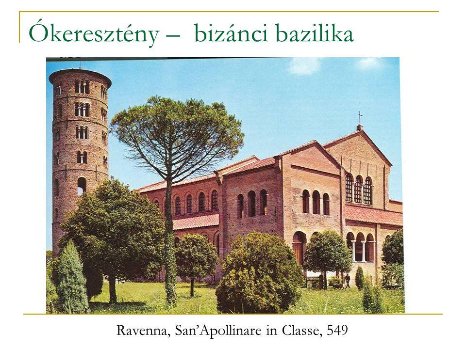 Ókeresztény – bizánci bazilika Ravenna, San'Apollinare in Classe, 549
