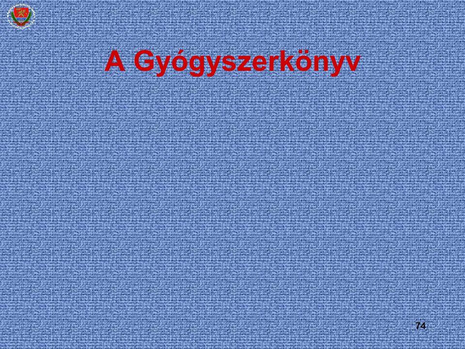 74 A Gyógyszerkönyv