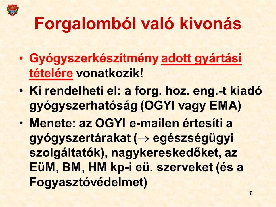 79 (Gyógyszerkönyvi rendelet 4) Nem ugyanaz a hatályos Európai Gyógyszerkönyv és a VIII.