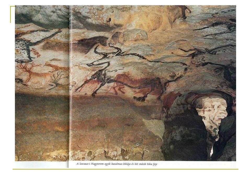 A barlangi művészetről alkotott hipotézisek: vadászmágia; sámán szertartások Lascaux-i barlang (részlet) Kr.